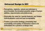 universal design in hci