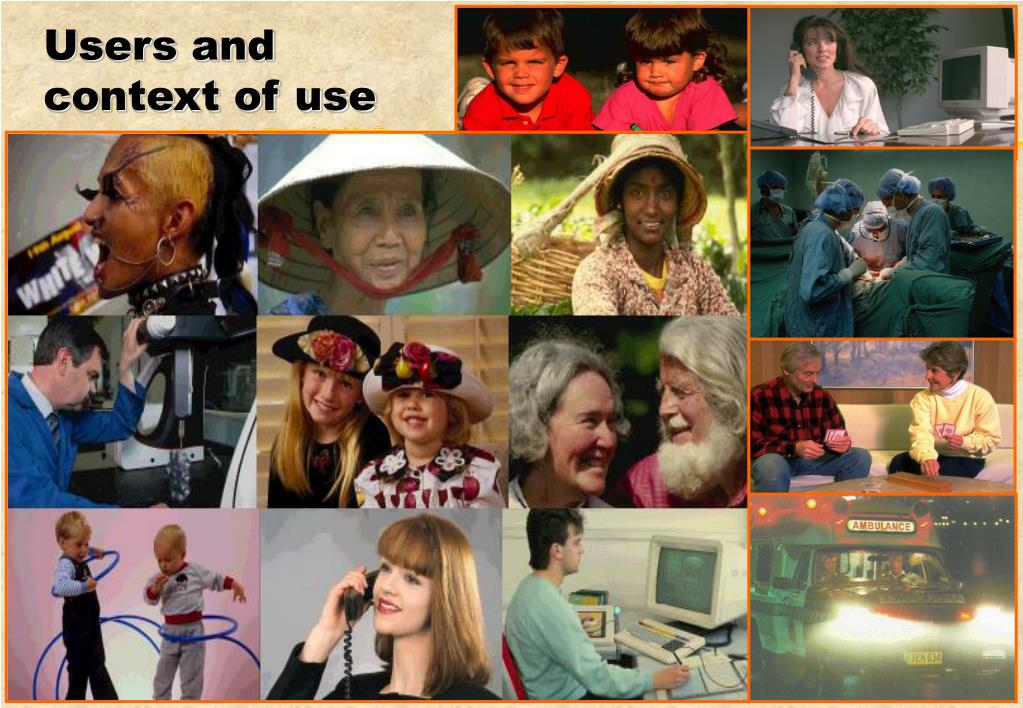 Users and context of use