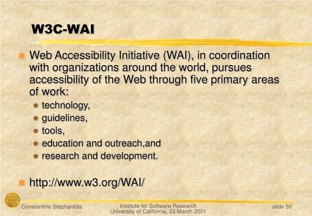 W3C-WAI