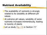 nutrient availability