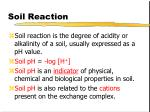 soil reaction
