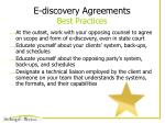 e discovery agreements best practices