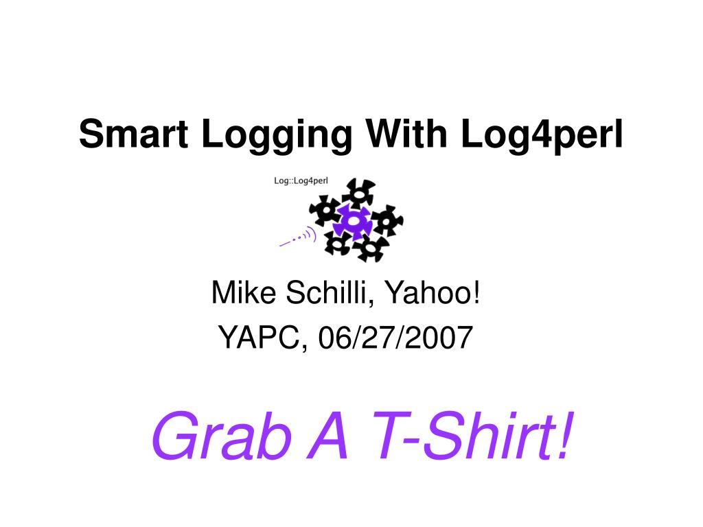 smart logging with log4perl l.