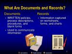 what are documents and records