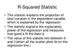 r squared statistic