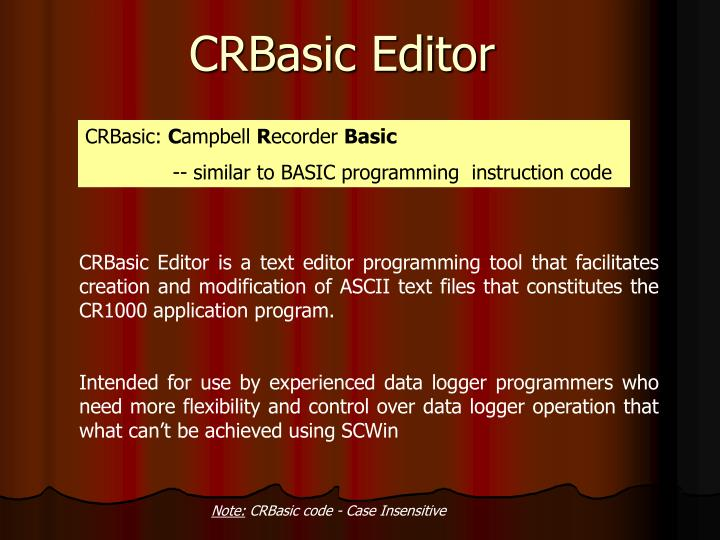 crbasic editor n ppt logger net 3 4 1 powerpoint presentation id 704261 Easy Wiring Diagrams at reclaimingppi.co