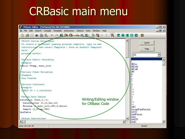 crbasic main menu n ppt logger net 3 4 1 powerpoint presentation id 704261 Easy Wiring Diagrams at soozxer.org