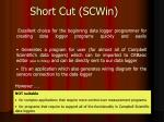 short cut scwin