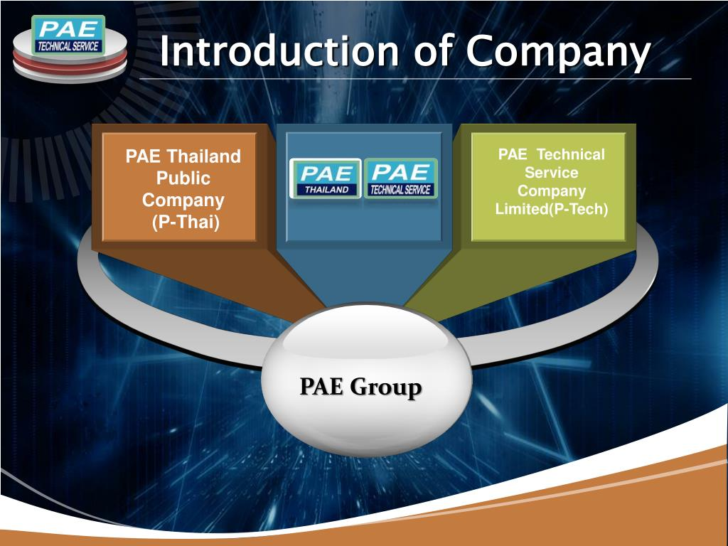 PPT - PAE Technical Service Company Limited PowerPoint Presentation