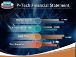 p tech financial statement