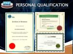personal qualification
