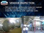 vendor inspection