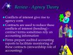 review agency theory