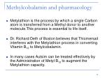 methylcobalamin and pharmacology