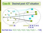 case b desired post ict situation