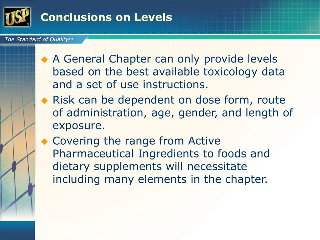 Conclusions on Levels