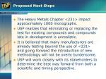 proposed next steps33