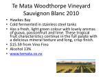 te mata woodthorpe vineyard sauvignon blanc 2010