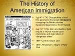 the history of american immigration