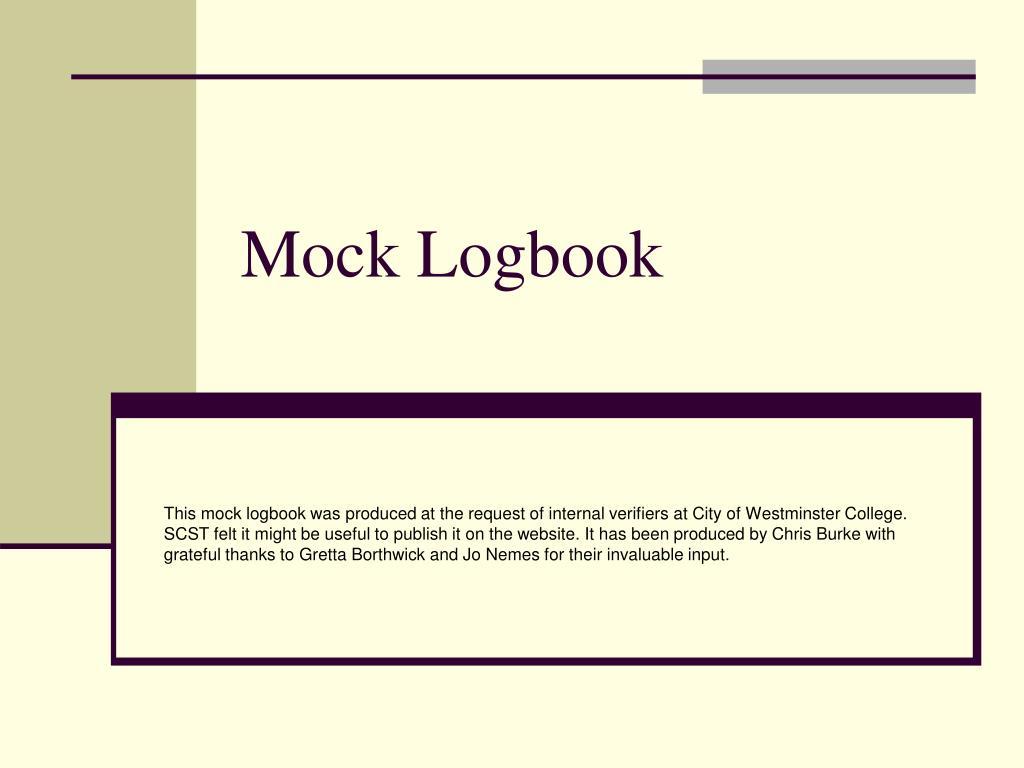 mock logbook l.