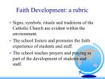 faith development a rubric