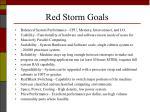 red storm goals