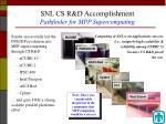 snl cs r d accomplishment pathfinder for mpp supercomputing