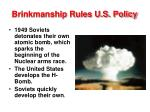 brinkmanship rules u s policy