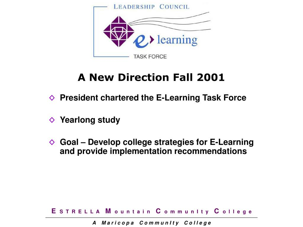 A New Direction Fall 2001