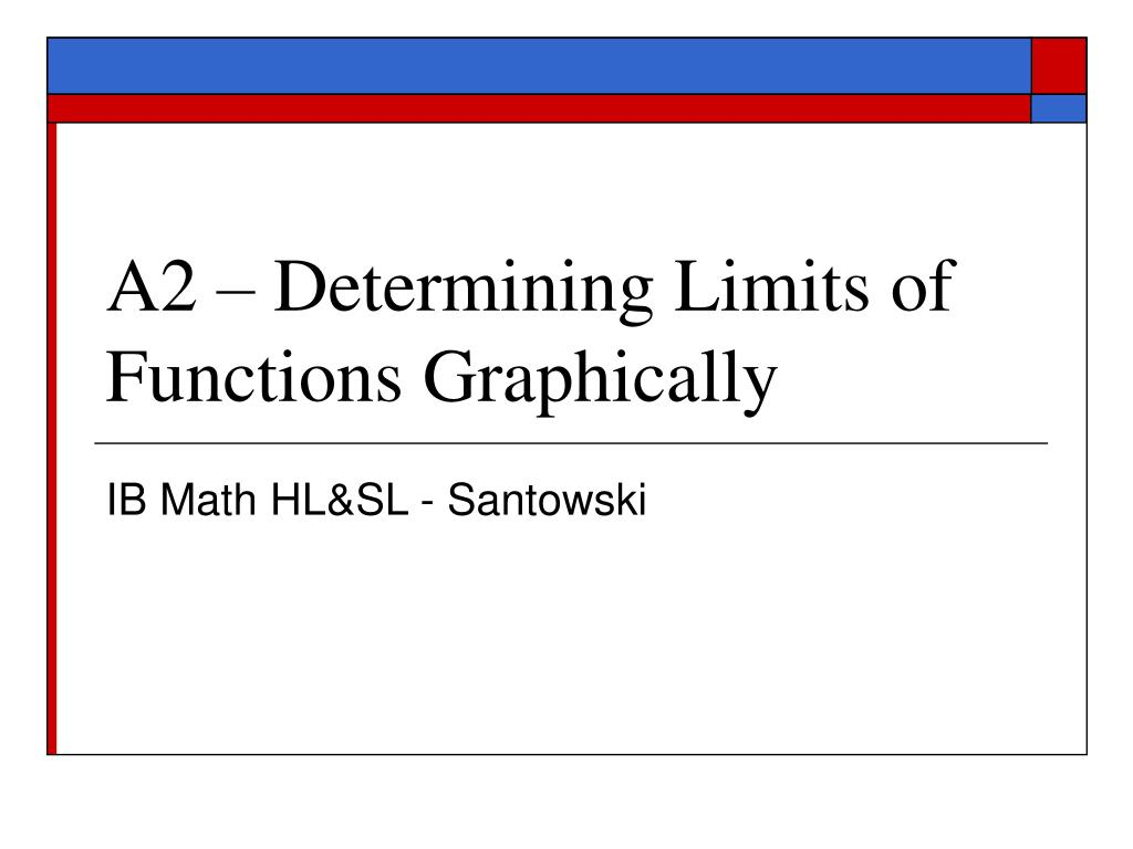 a2 determining limits of functions graphically l.