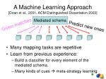 a machine learning approach doan et al 2001 acm distinguished dissertation 2003
