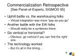commercialization retrospective see panel of experts sigmod 05