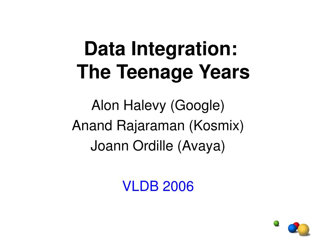 data integration the teenage years l.