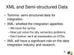 xml and semi structured data