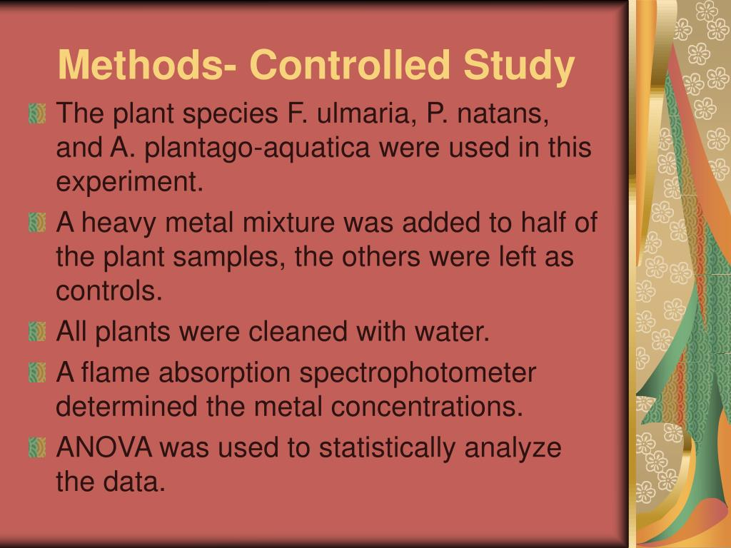 Methods- Controlled Study