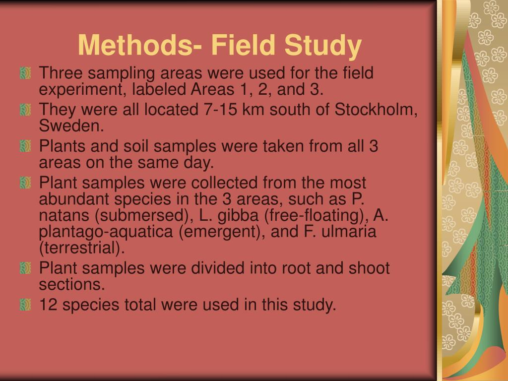 Methods- Field Study