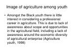 image of agriculture among youth