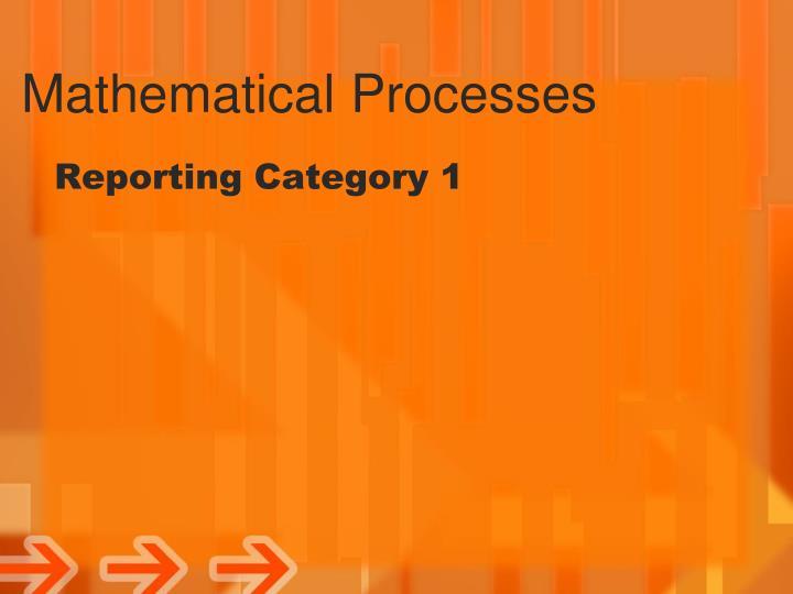 Mathematical processes