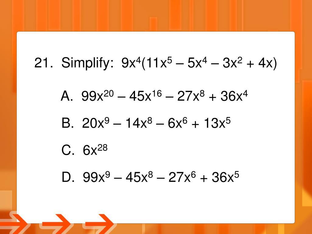Simplify:  9x