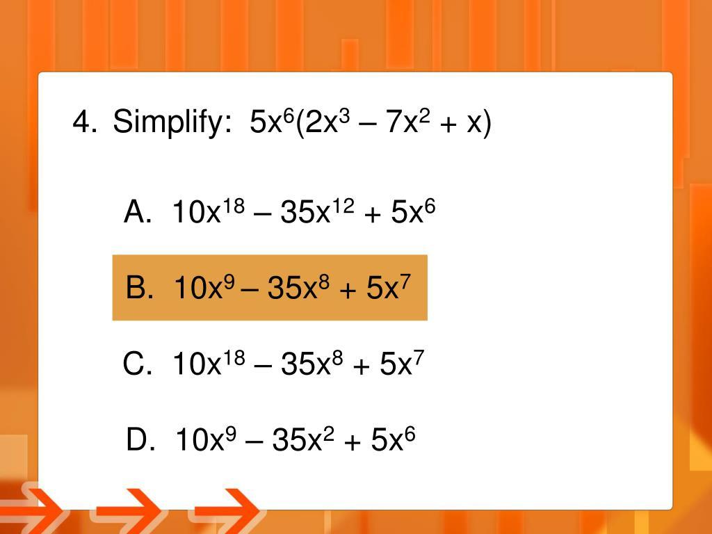 Simplify:  5x