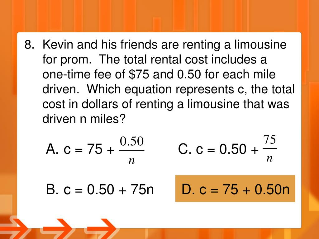Kevin and his friends are renting a limousine