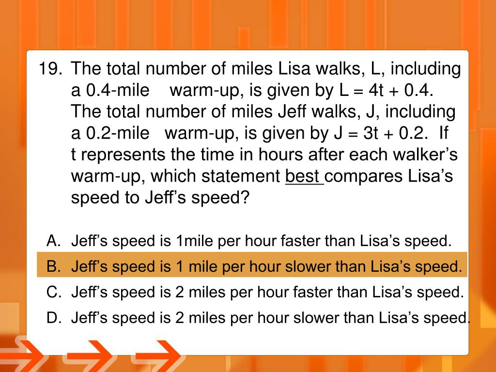 The total number of miles Lisa walks, L, including