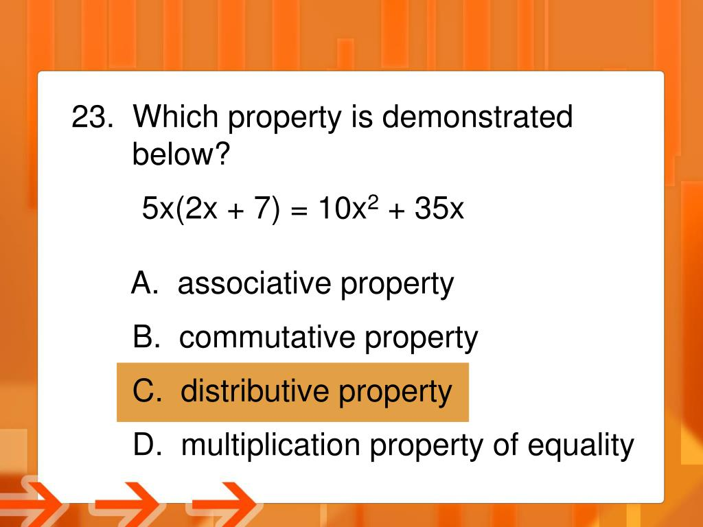 23.  Which property is demonstrated