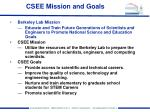 csee mission and goals