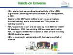 hands on universe