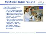 high school student research