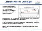 local and national challenges