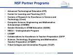 nsf partner programs