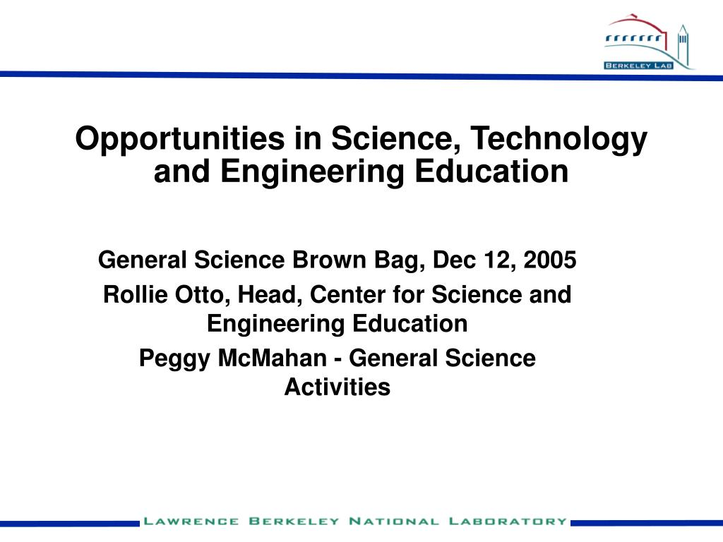 opportunities in science technology and engineering education l.