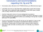 conclusions and recommendations regarding cd hg and pb